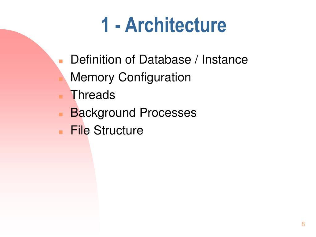 1 - Architecture