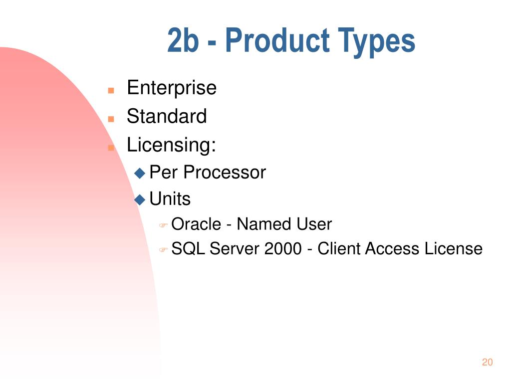 2b - Product Types