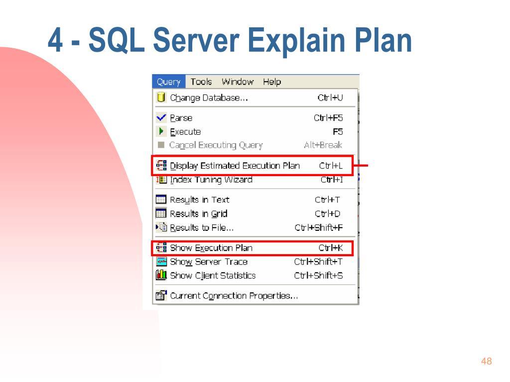 4 - SQL Server Explain Plan