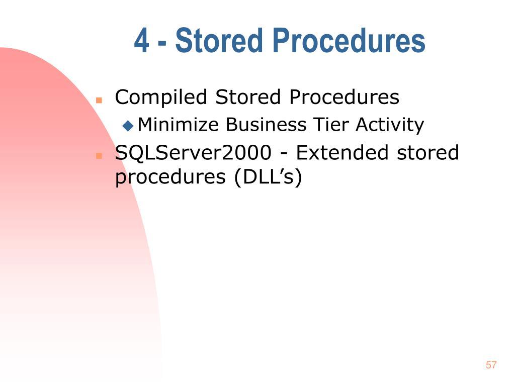 4 - Stored Procedures