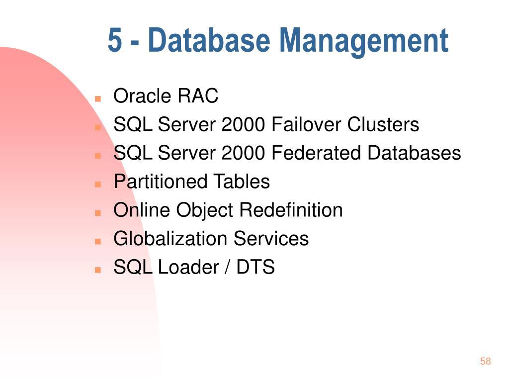 5 - Database Management