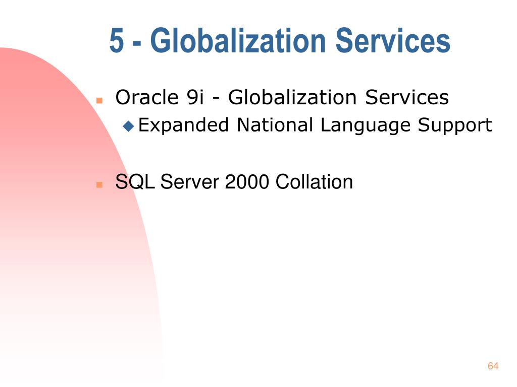 5 - Globalization Services