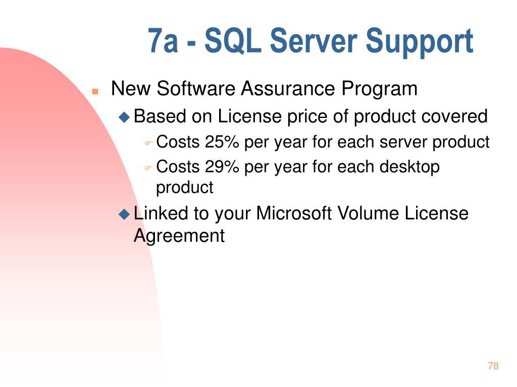 7a - SQL Server Support