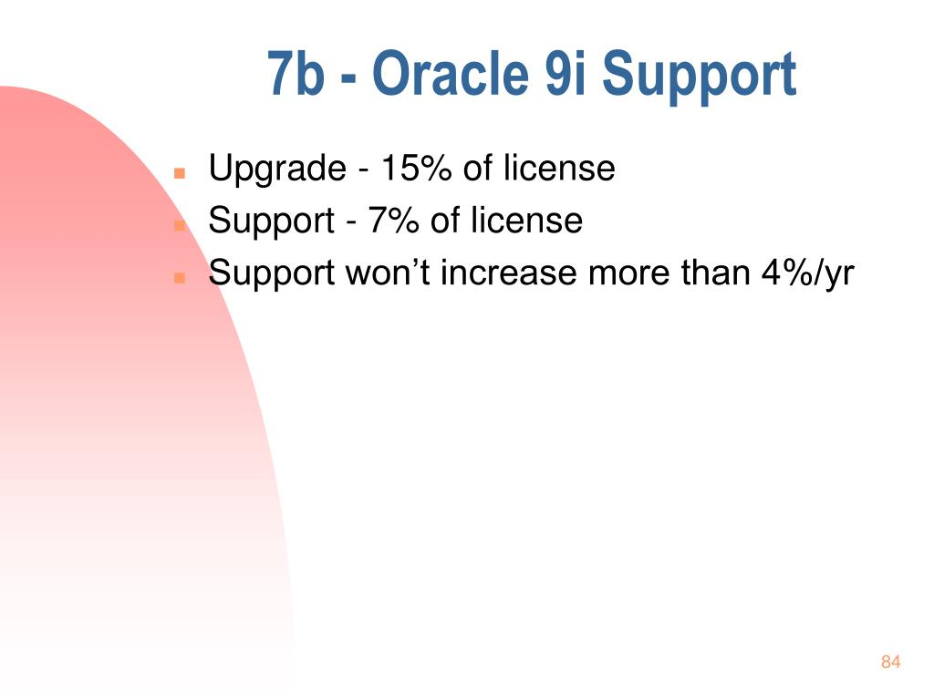 7b - Oracle 9i Support