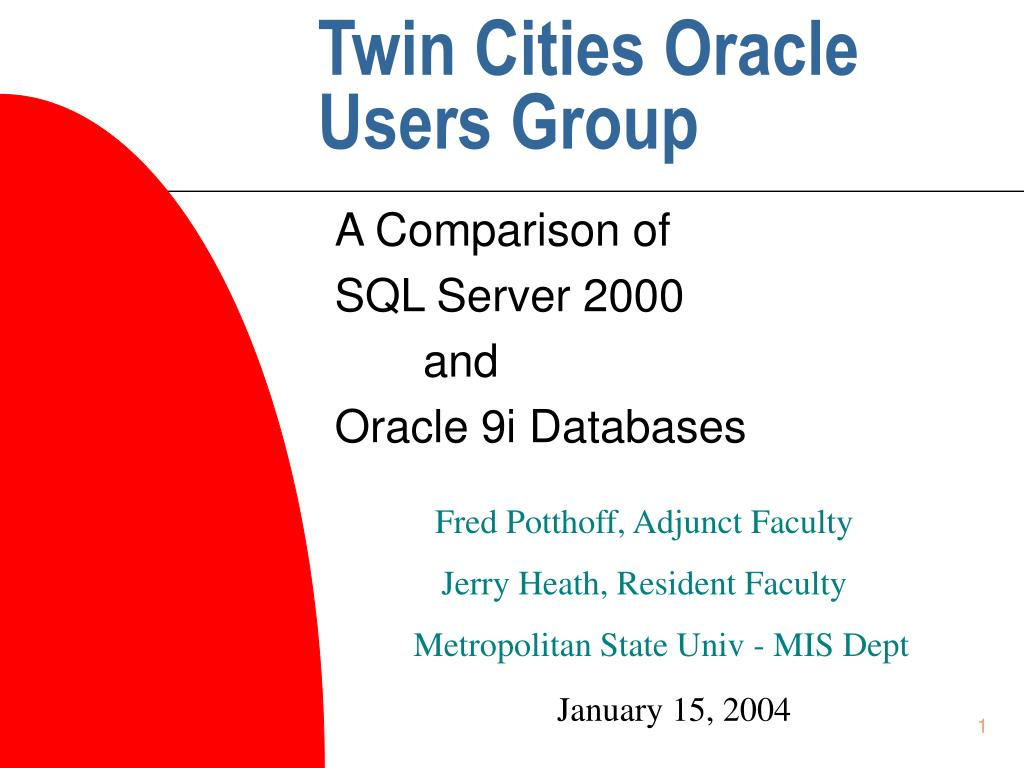 Twin Cities Oracle Users Group