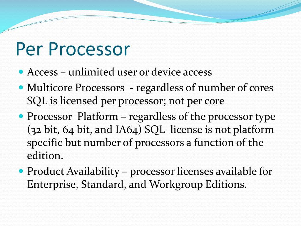 Per Processor