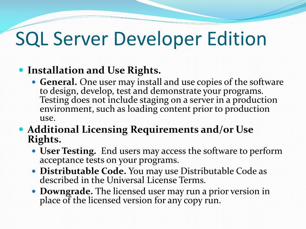 SQL Server Developer Edition