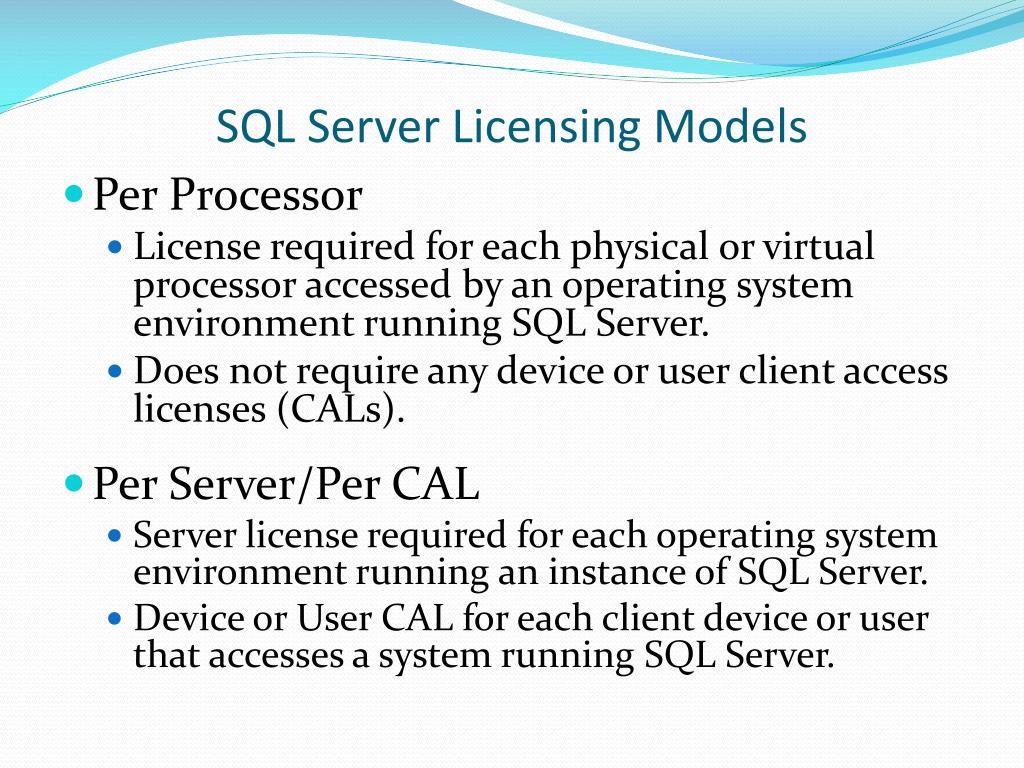 SQL Server Licensing Models