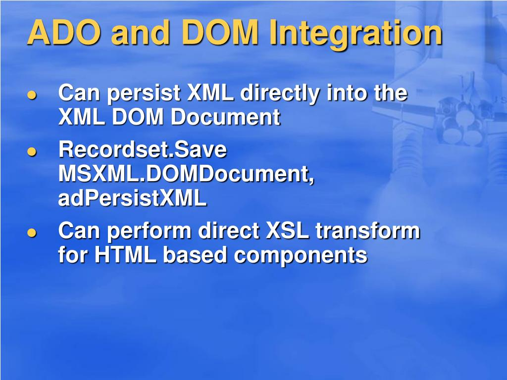 ADO and DOM Integration