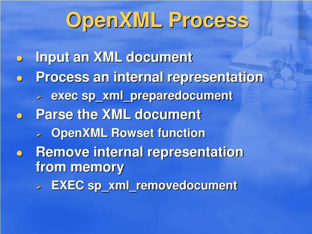 OpenXML Process