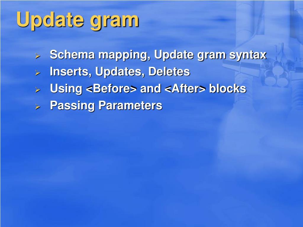 Update gram
