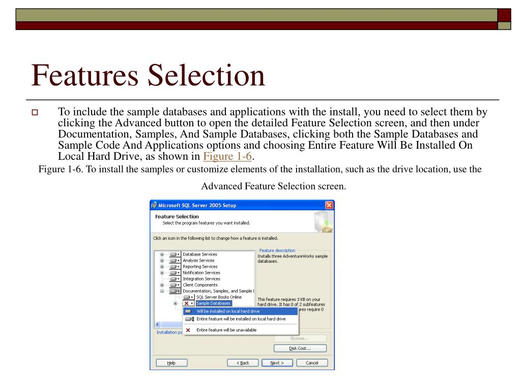 Features Selection
