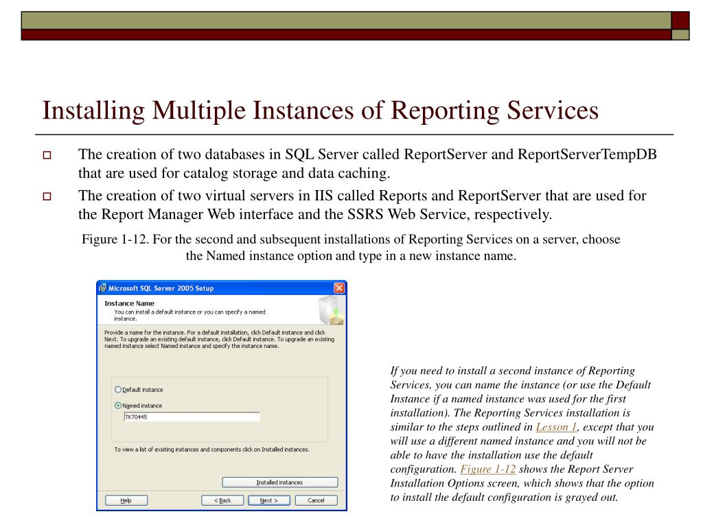 Installing Multiple Instances of Reporting Services