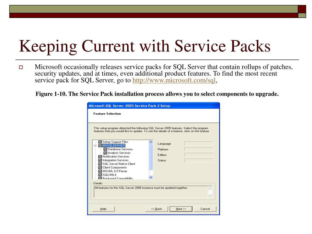 Keeping Current with Service Packs