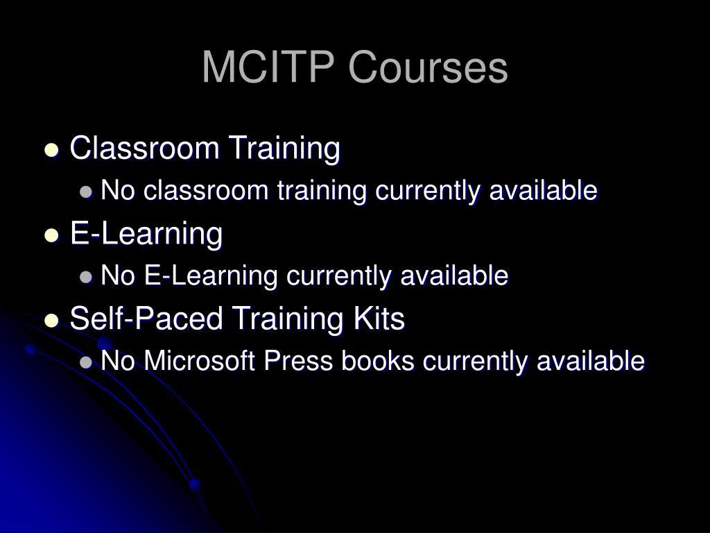 MCITP Courses