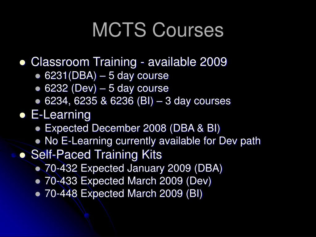 MCTS Courses