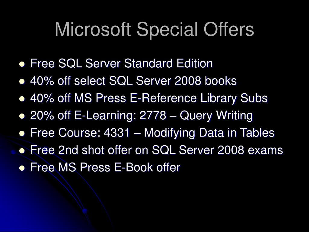 Microsoft Special Offers