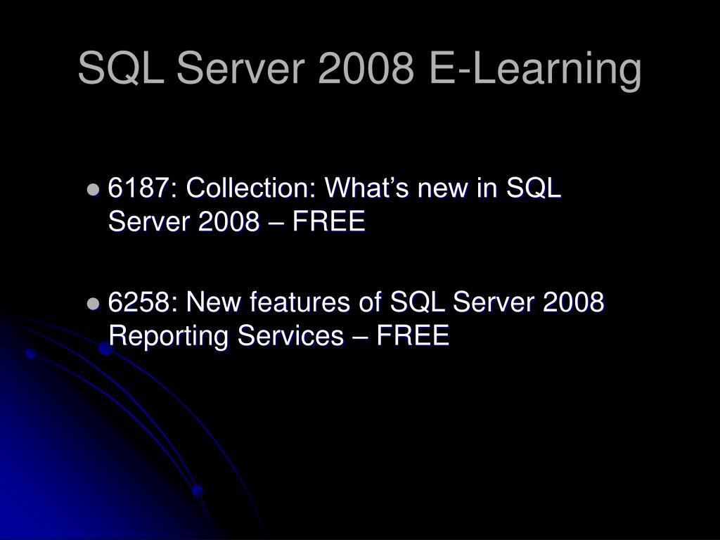 SQL Server 2008 E-Learning