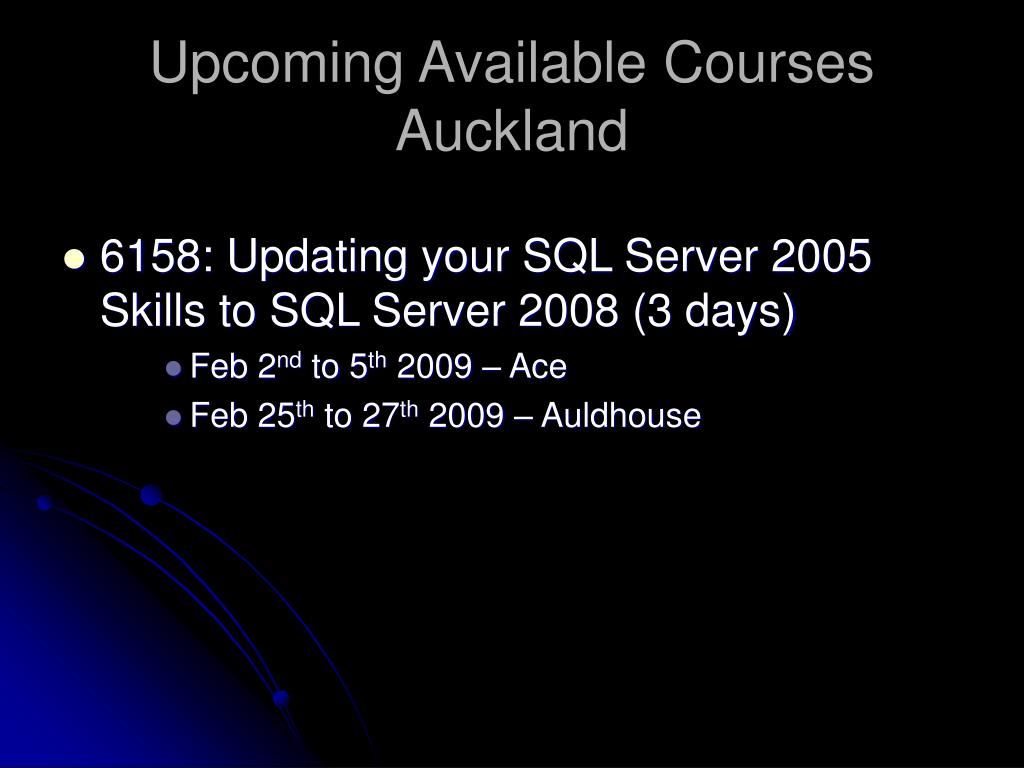 Upcoming Available Courses