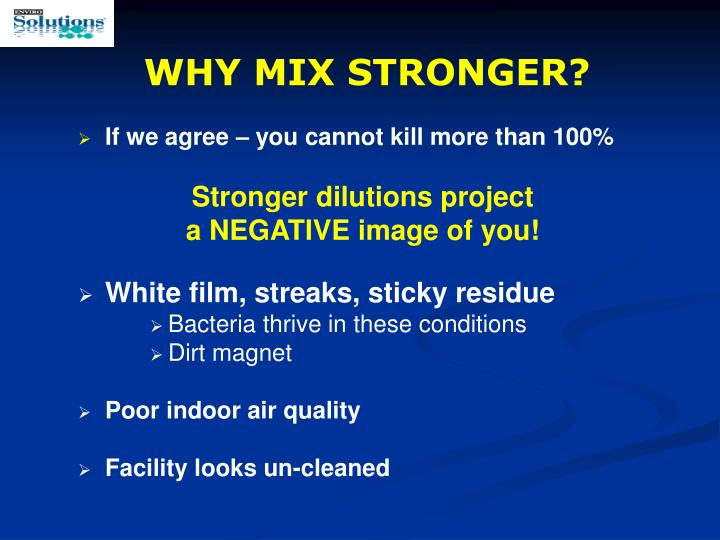 WHY MIX STRONGER?
