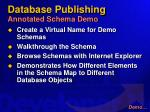 database publishing annotated schema demo