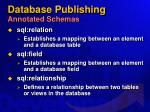 database publishing annotated schemas49