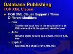 database publishing for xml clause36