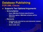 database publishing for xml clause37
