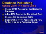 database publishing setting up http access demo