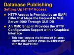 database publishing setting up http access