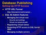 database publishing setting up http access33