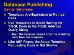 database publishing using templates