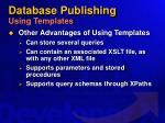 database publishing using templates44