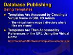database publishing using templates45