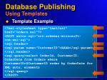 database publishing using templates46