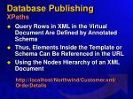 database publishing xpaths