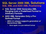 sql server 2000 xml solutions sql xml and ado xml positioning