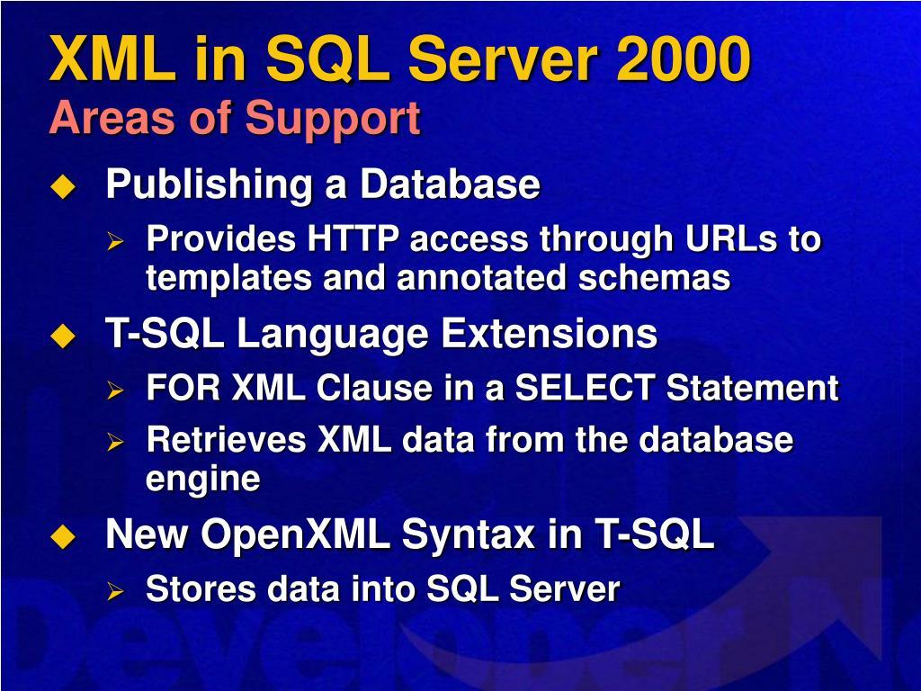 XML in SQL Server 2000