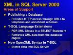 xml in sql server 2000 areas of support