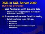 xml in sql server 2000 business scenarios