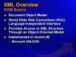 xml overview dom basics