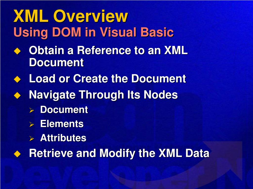 XML Overview