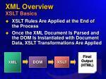 xml overview xslt basics
