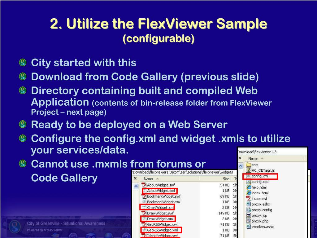 2. Utilize the FlexViewer Sample