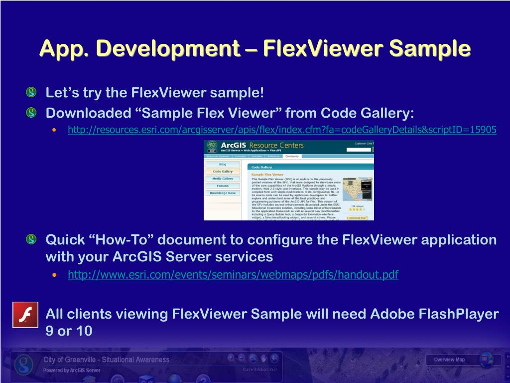App. Development – FlexViewer Sample