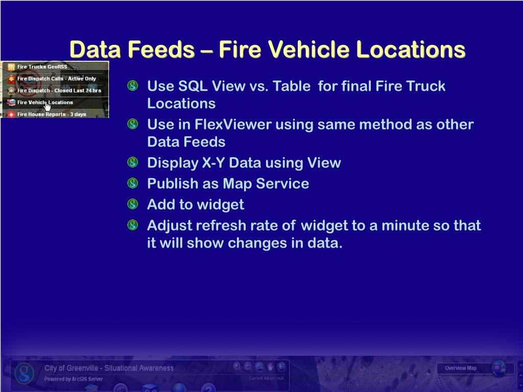 Use SQL View vs. Table  for final Fire Truck Locations