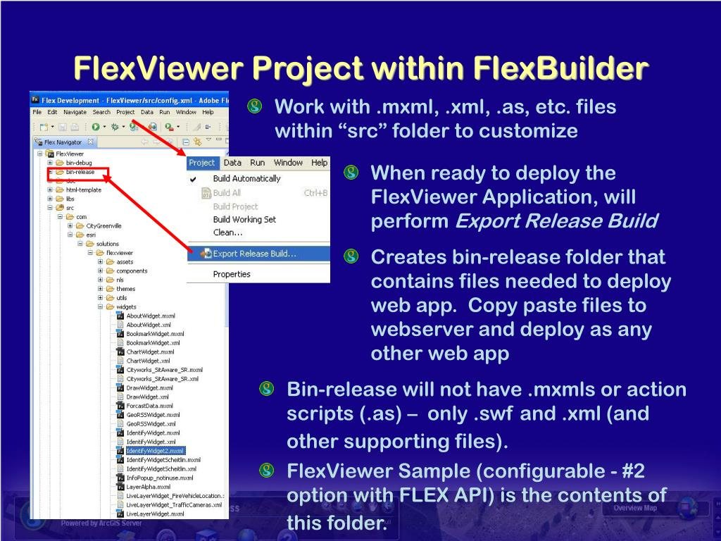 FlexViewer Project within FlexBuilder