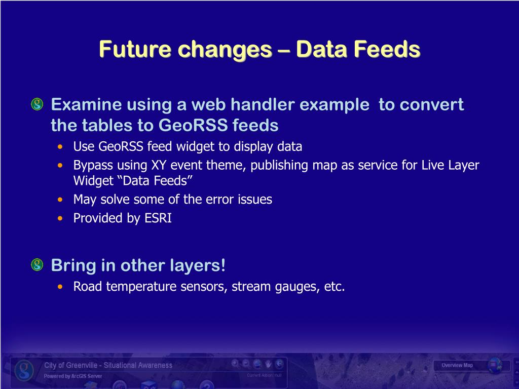 Future changes – Data Feeds