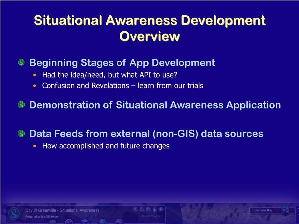 Situational Awareness Development Overview