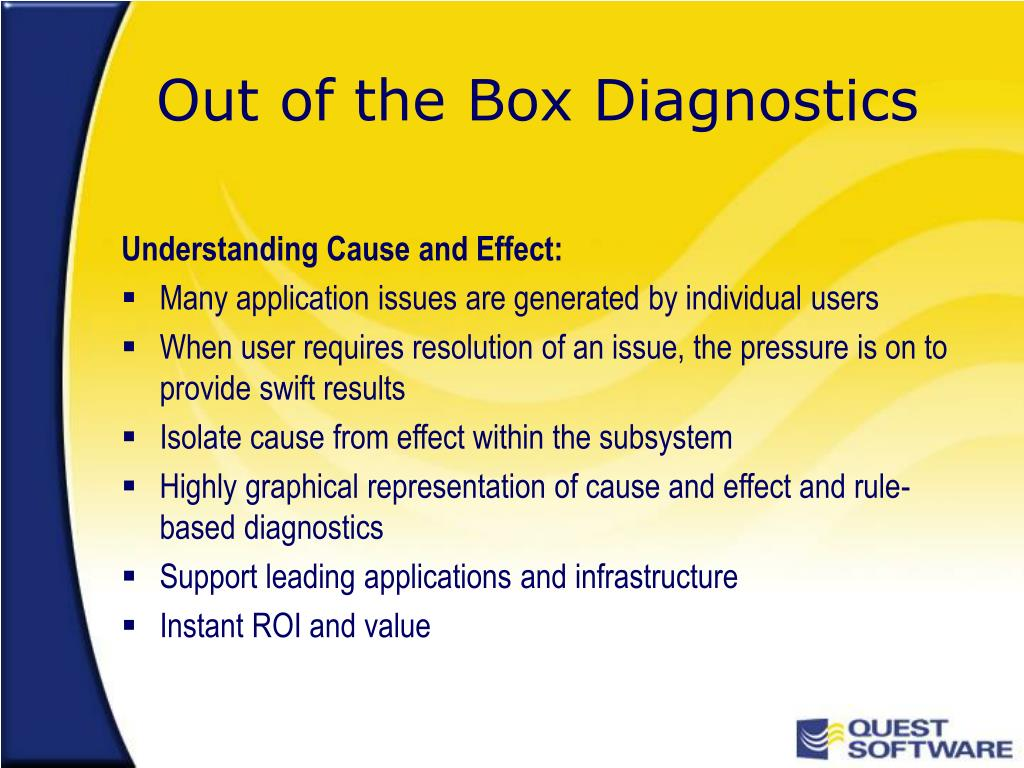 Out of the Box Diagnostics